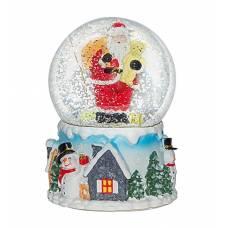 """Шар со снегом """"Санта в новогоднюю ночь"""" 80725"""