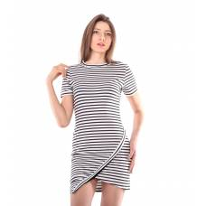 Платье для отдыха женское 6857, р.096, рост 170, белый с рис. 1261 (Serge)