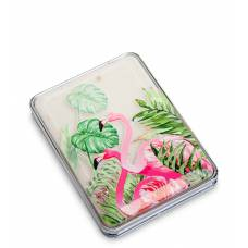 Зеркало прямоугольное с плавающими блестками ''Розовый фламинго''  WW-111/3