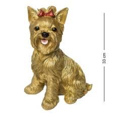 Собака Йорк 33 см золотой