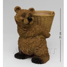 """GG-4487-LG Кашпо """"Медведь с корзиной"""" (Sealmark)"""