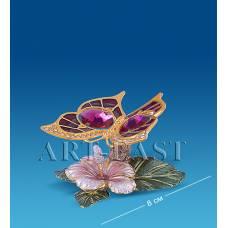 """AR-4351/ 1 Композиция """"Бабочка на цветке"""" с цв.кр. (Юнион)"""