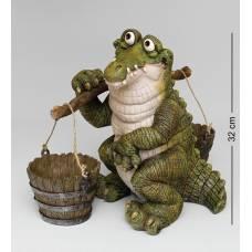 "GG-4743-LC Кашпо ""Крокодил с коромыслом"" (Sealmark)"