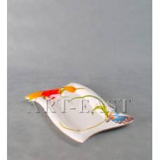 """ALF 55-052 Блюдо прямоугольное """"Тюльпаны"""" 29,5*19,5см"""