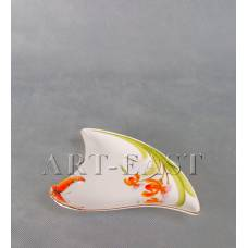 """ALF 55-084 Тарелка треугольная сервировочная """"Орхидеи"""" 20см"""