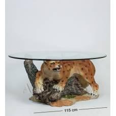 ALF 09009 Журнальный стол ''Леопард'' H-420, D-1145*690