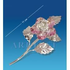"AR-1239 Фигурка посереб. ""Цветок"" с цв.кр. (Юнион)"