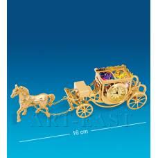 "AR-1309/ 1 Фигурка с часами ""Карета с лошадью"" (Юнион)"