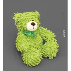 CR-22 Медведь с бантиком - зеленый 35см