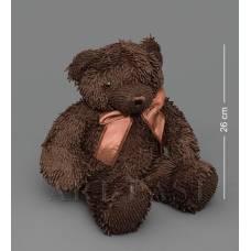 CR-20 Медведь с бантиком - т.коричневый 46см