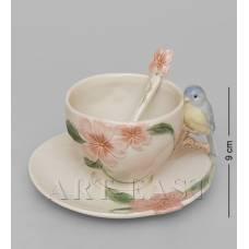 """CMS-54/ 1 Чайная пара """"Голубая птица Счастья"""" (Pavone)"""