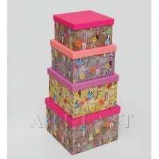 """WE-63 Н-р коробок из 4шт """"Куб"""""""
