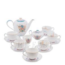 JK- 98 Чайный сервиз на 6 перс. ''Песня Мотылька'' (Canzone Falena Pavone)