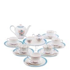 JK- 99 Чайный сервиз на 6 перс. ''Песня Мотылька'' (Canzone Falena Pavone)