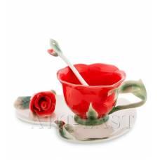 FM-01/ 2 Чайная пара ''Красная Роза'' (Pavone)