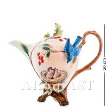 FM-80/ 1 Заварочный чайник ''Голубые птицы'' (Pavone)