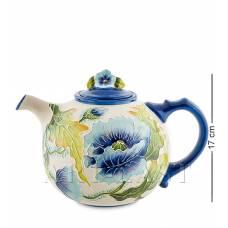 """BS-247 Заварочный чайник """"Голубые маки"""""""