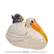"""BS-116 Блюдо с крышкой """"Счастливый пеликан"""""""