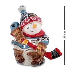 """BS-546 Подсвечник """"Снеговик-хоккеист"""" (Pavone)"""