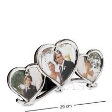 "CHK-036 Фоторамка ""Влюблённые сердца"" на 3 фото"