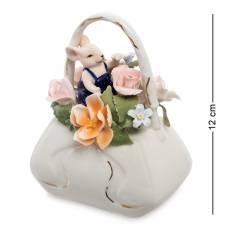 Статуэтка символ года ''Мышонок с сумкой цветов'' (Pavone) CMS-62/ 1