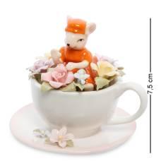 Статуэтка символ года ''Мышка в цветочной чашке'' (Pavone) CMS-62/ 3