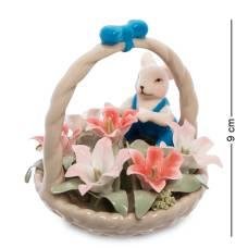 Статуэтка символ года ''Мышонок с цветочной корзинкой'' (Pavone) CMS-62/ 4