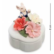 Шкатулка символ года ''Мышонок с цветами'' (Pavone) CMS-62/ 5