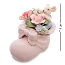 Статуэтка символ года ''Мышонок в цветочном башмаке'' (Pavone) CMS-62/ 8