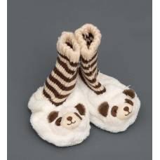 Детские тапочки-зверюшки  ''Панда''  25117 - 11 см