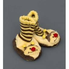 Детские тапочки-зверюшки ''Пчелка''  25120 - 12 см