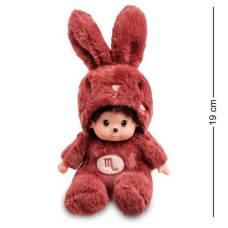 Мягкая игрушка малыш в костюме Зайчика ''Знак Зодиака - Скорпион''  PT-67 - 19 см