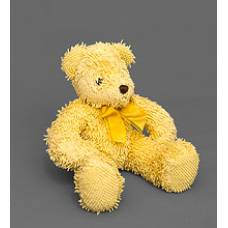 Мягкая игрушка медведь с бантиком 25129 - желтый 40см