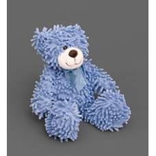 Мягкая игрушка медведь с бантиком 25133- нежно-голубой 35см