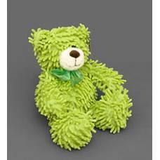 Мягкая игрушка медведь с бантиком 25134 - салатовый 35см