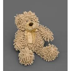 Мягкая игрушка медведь с бантиком 25135 - кофе с молоком 35см