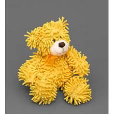 Мягкая игрушка медведь с бантиком 25137 - желтый 35см