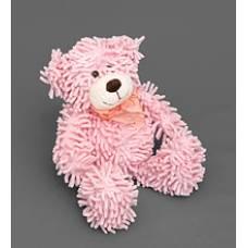 Мягкая игрушка медведь с бантиком 25138 - нежно-розовый 35см
