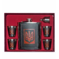 Фляжка со стопками ''Герб Украины''  GT-16 Подарочный набор