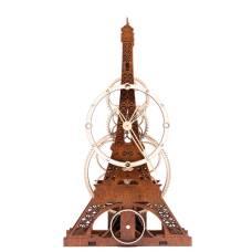 """Настільний годинник з дерева """"Ейфелева Вежа"""""""