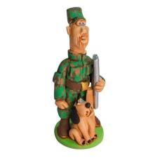 Статуэтка Охотник с ружьем и собакой (молодой)