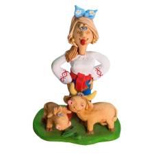 Статуэтка Казачка с коровой и теленком