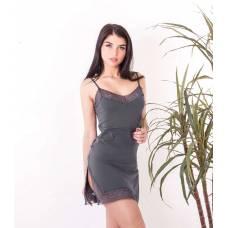 Сорочка ночная женская 8637, р.092, рост 170, графит (Serge)
