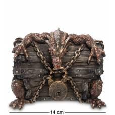 Статуэтка Veronese Шкатулка ''Дракон на сундуке'' WS-274