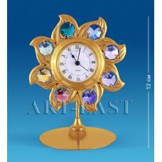 """AR-2672/GA Часы """"Солнце"""" 12см. с цв.кр. (Юнион)"""