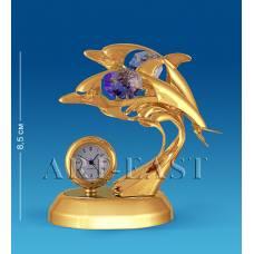 """AR-4397/ 6 Фигурка с часами """"Дельфины"""" с цв.кр. (Юнион)"""