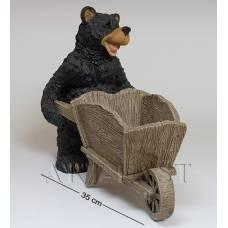 """GG-4736 MF Кашпо """"Медведь с тачкой"""" (Sealmark)"""