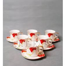 """ALF 55-003 Чайный набор """"Маки"""" 11,5*9*7см"""