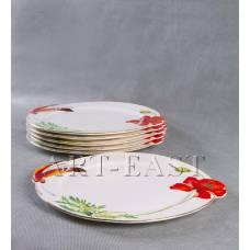 "ALF 55-005 Набор из 6-ти тарелок ""Маки"" 28*25*2см"