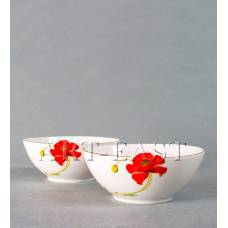 "ALF 55-008 Набор из 2-х салатников ""Маки"" 15*14,5*6см"